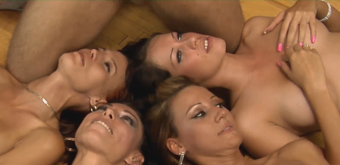 4 Girls One Cock